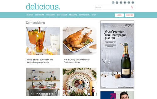 delicious. magazine is launching its biggest competition ever in the countdown to Christmas, offering £11,000 worth of prizes in an advent calendar draw.
