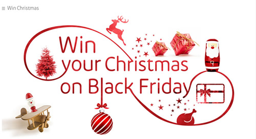 Shopping centre group Intu is to reward one shopper with a Christmas prize on Black Friday as part of a social media campaign aimed at engaging consumers online