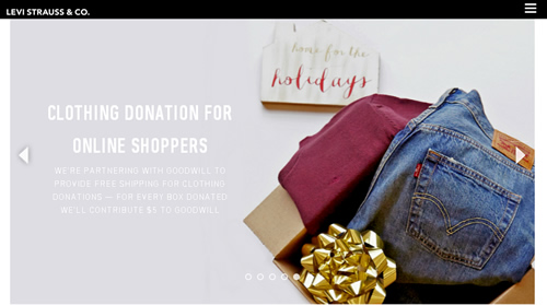 In the US, Levi Strauss & Co. has linked with Goodwill to help shoppers give unwanted clothing and footwear to the charity and also raise funds.