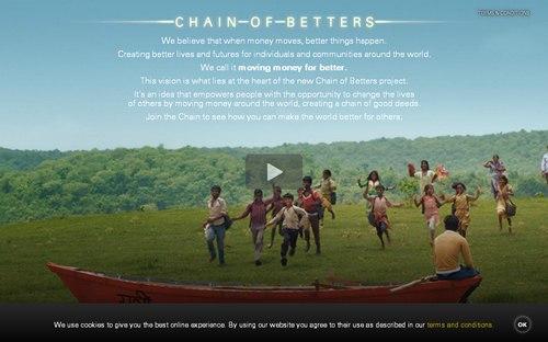 Western Union will help fund projects that aim to make lasting positive change for individuals and communities through its 'Chain of Betters' campaign.