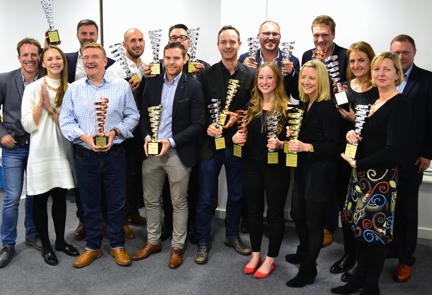 UK IMC European Awards 2015 winners collect their trophies at the IPM