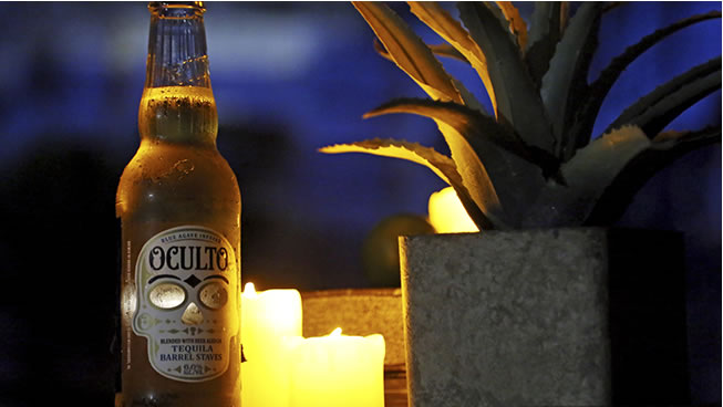 US Tequila-flavoured beer Oculto has been using limited edition bottles with LED light labels and Internet of Things connectivity