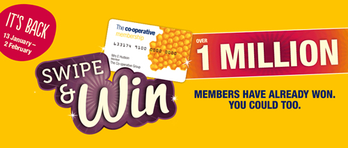 The Co-op is offering 60 of its members a chance to win £1,000 worth of vouchers each with the return of its 'Swip and Win' promotion in its UK food stores.