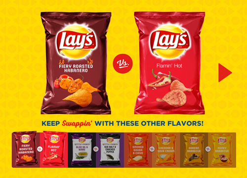 "Lay's starts its ""Flavor Swap"" challenge in the US next month. Fans can vote for four classic flavours or four new flavours for the chance to win $250,000."