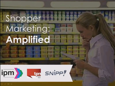 Shopper Marketing Amplified is a webinar hosted by Carey Trevill, Managing Director of the UK's IPM with contributions from marketing technology specialists Snipp! Interactive and retail and shopper marketing experts TPN.