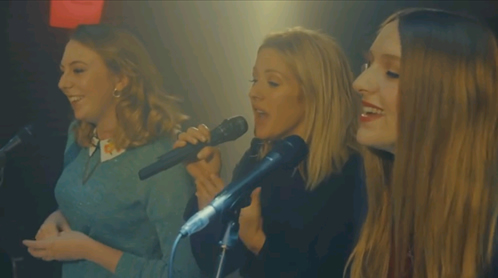Ellie Goulding gave two fans a shock when she joined them for a live performance of her single, Army, as part of MasterCard's Priceless Surprises campaign.