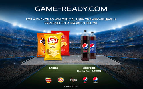 PepsiCo is running a #gameready UEFA Champions League promotion across Europe on Pepsi and savoury snacks, with a grand prize of a VIP trip to the Final.