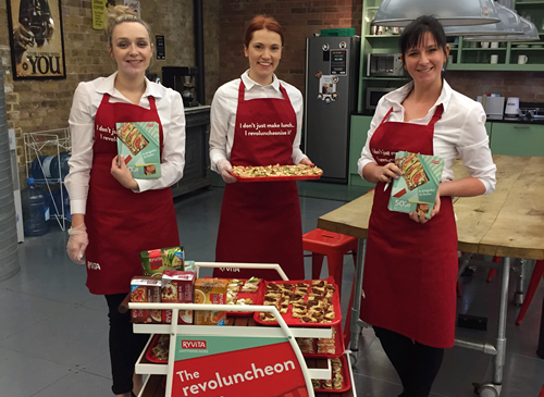 Ryvita has launched a new 'Revoluncheon' campaign, including experiential in city centres and offices in London, Manchester, Birmingham and Cardiff.