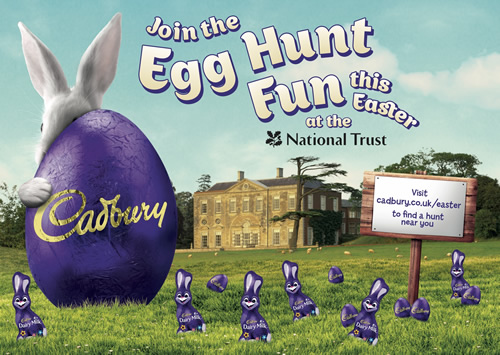 Cadbury is again partnering the National Trust and National Trust for Scotland to organise Easter weekend experiences 300+ properties around the UK.