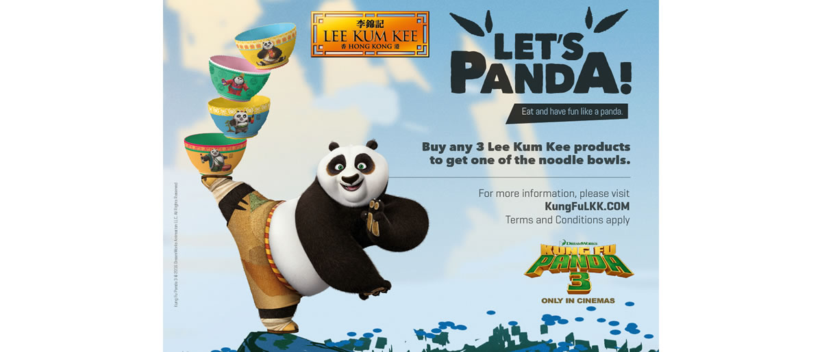 Chinese sauce brand Lee Kum Kee has partnered with Twentieth Century Fox and DreamWorks Animation's new movie, Kung Fu Panda 3, in a brand campaign.