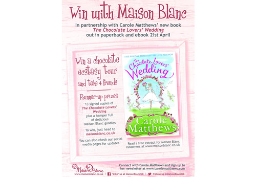 Little, Brown is running a partnership campaign with Maison Blanc and online wedding planning service Zankyou for new novel, The Chocolate Lovers' Wedding.