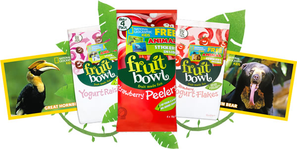 Fruit Bowl, the kids' dried fruit brand, has partnered with National Geographic Kids magazine for a new educational campaign which will run for nine months.