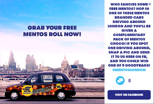 Mentos has taken its 'Who Says No to Mentos' campaign to the streets of London with a high profile taxi takeover activation.