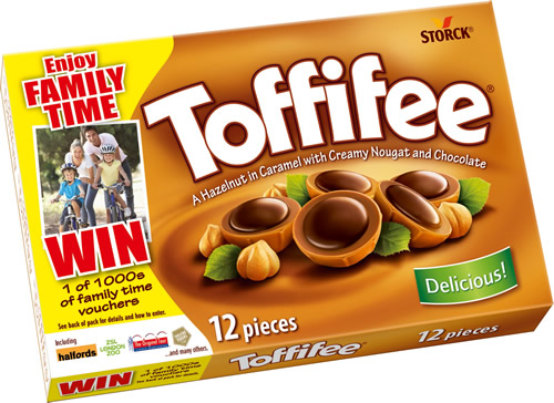 Storck UK is launching its first UK on pack promotion for its Toffifee brand, offering the chance for consumers to win money off family adventures.