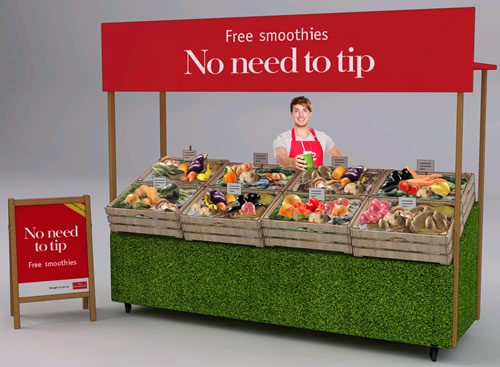 The Economist is offering free smoothies made from fruit and vegetables otherwise destined for the rubbish bin as part of its 'Discomfort Food' subs drive.