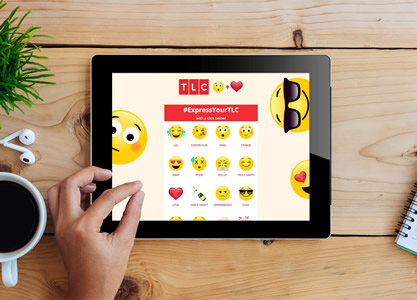 "TV channel TLC is using an emoji language on and off air to communicate with viewers in a new ""OMG with heart"" campaign created by promotional agency tpf."