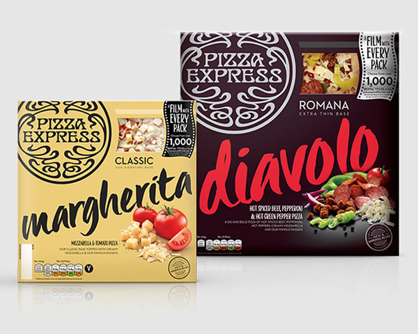 PizzaExpress is launching a new campaign called PizzaExpress Film Club, an on-pack led promotion running on 1m pizza boxes exclusively in Sainsbury's,
