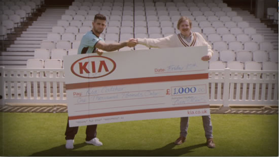 Kia, principal sponsor of Surrey County Cricket Club, has launched a 1970s inspired instructional video to promote the Kia Catch competition.