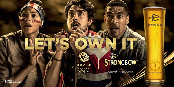 Strongbow – the UK's number one cider brand – has launched a multi-million pound campaign as part of its exclusive sponsorship of Team GB ahead of Rio 2016, including an on-pack competition to win limited edition glasses.
