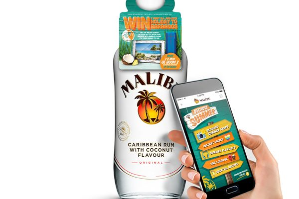 The campaign has been developed through an on-going partnership between Malibu and creative agency SharpEnd, and follows work undertaken at The Absolut Company's innovation lab in Stockholm, where Absolut and Malibu collaborated on a 'connected' bottles showcase.