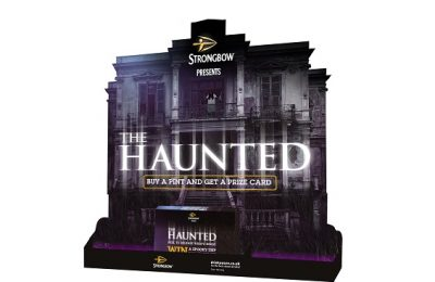 Strongbow, the UK's leading cider brand from HEINEKEN, is giving drinkers a fright with its on-trade consumer activation 'The Haunted' this Halloween. Worth more than £300m in sales in 2015, Halloween is now the second biggest night in the on-trade calendar after New Year's Eve. In order to help publicans maximise this important occasion and drive growth in sales, 11,000 Strongbow POS kits featuring a guaranteed instant-win consumer competition are being distributed.