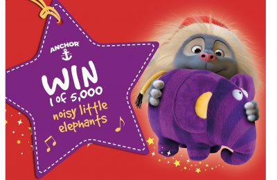 The new Christmas TV ad from Anchor, featuring the 'Hugglers' animated brand characters 'enjoying' Christmas, has inspired a new on-pack promotion offering consumers the chance to win an annoying plush elephant toy. The TV ad features a baby Huggler being given the toy by granny; mum is then left to endure the resulting aural assault as her child repeatedly triggers the elephant's trumpeting.
