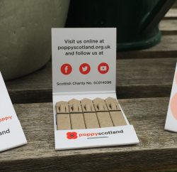 Charity Poppyscotland will be handing out free Seed Sticks which grow into red poppies when planted to the public at a wide range of events in the coming year as the charity seeks to promote its life-changing services for the Armed Forces community in a new way.