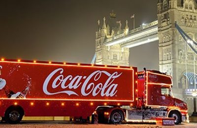 Coca-Cola's iconic Coca-Cola Christmas truck tour kicks off this year on November 17th 2016, with visits planned for 44 stops locations across the UK in the run up to Christmas Day. Plus, for the first time, the truck will also be making appearances on fans' Twitter feeds – anyone tweeting #HolidaysAreComing will see the Coca-Cola Christmas truck appear in their tweet.