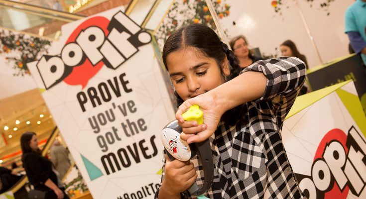 Hasbro is running a shopping centre tour across the UK in the run up to Christmas to showcase the cutting-edge motion technology in its new Bop It! game, giving consumers the chance to try out its 10 new 'moves' and share the fun through social media.