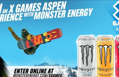 Monster Energy is running a UK promotion offering consumers the chance to win a trip to the Winter X Games extreme sports event in Aspen, Colorado, USA, in January 2017. Monster is a sponsor of the Winter X Games and also has a team which will be competing.