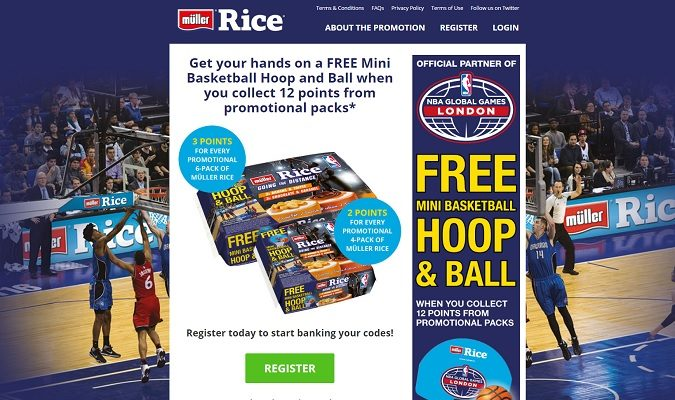 Müller Rice has announced an extended partnership with the US National Basketball Association (NBA) that sees the brand become an official marketing partner of the upcoming NBA Global Games London 2017. The dairy company will be running an on-pack promotion and a separate multimedia promotion as part of the deal.