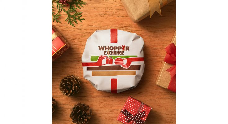 Burger King is running a promotional campaign this Christmas where it will swap an unwanted present for a burger. On Boxing Day (December 26th 2016), selected Burger King outlets will let customers bring in gifts of any value to exchange for one free burger. All presents received will be donated to a local charity.
