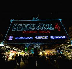 Xbox has installed a series of Christmas lights that form the first-ever game trailer consumers can actually walk through. The lights – installed in the shopping plaza in London's Brunswick Centre – don't feature traditional festive imagery. Instead, they tell a story about hordes of flesh-eating zombies, to promote the new Christmas-themed zombie game Dead Rising 4.