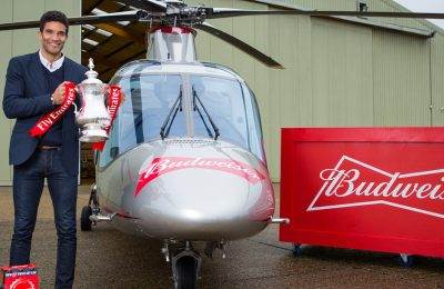 Budweiser is to reward the fans of the football team which achieves the greatest against-the-odds upset in the Third Round of the FA Cup this weekend with free beer, delivered by a helicopter with FA Cup winner David James on board.