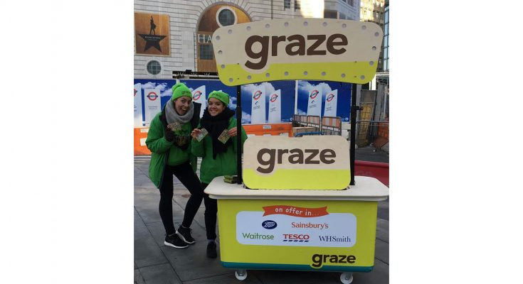 Healthy food brand Graze is giving out one million samples to raise awareness about its on-the-go snack food range, sold through retailers in London.