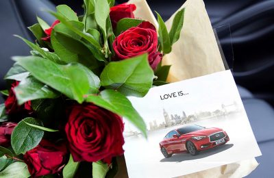 INFINITI, the luxury car maker, is surprising customers in London and the South East this Valentine's Day with bouquets of flowers delivered to their door.