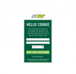 The SUBWAY brand is launching a digital campaign in the UK and Ireland to thank its customers for accepting digital cookies notifications by offering them real cookies.