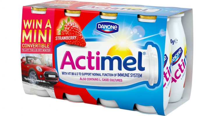 Actimel, the yogurt drink brand from Danone, is giving consumers the chance to win one of three MINI Cooper Convertibles as part of its 'Lift the lid off winter' campaign, which aims to encourage people to stay positive in the face of the elements and lower temperatures.