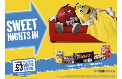 Mars Chocolate UK has updated its annual film-related on pack promotion through a partnership with Google Play which sees the confectionery giant offering consumers money off films as well as discounts off TV shows, books, music and apps.