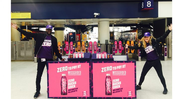 Lucozade Zero and fashion retailer Missguided has announced a collaboration, 'Zero To Pay', which will be brought to life through on-pack promotion and experiential marketing.