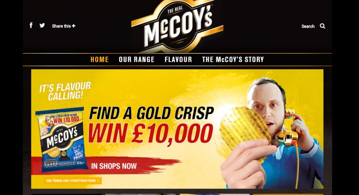 Ridged crisp brand McCoy's is running 'Win Gold', an on-pack promotion offering five chances to win £10,000 by finding a golden crisp in a packet.