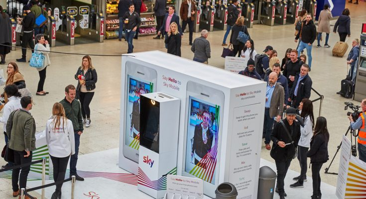 Sky Mobile, the all-new mobile network from Sky, is running large-scale experiential activations at three of London's biggest transport hubs, Waterloo, Victoria and Liverpool Street stations.