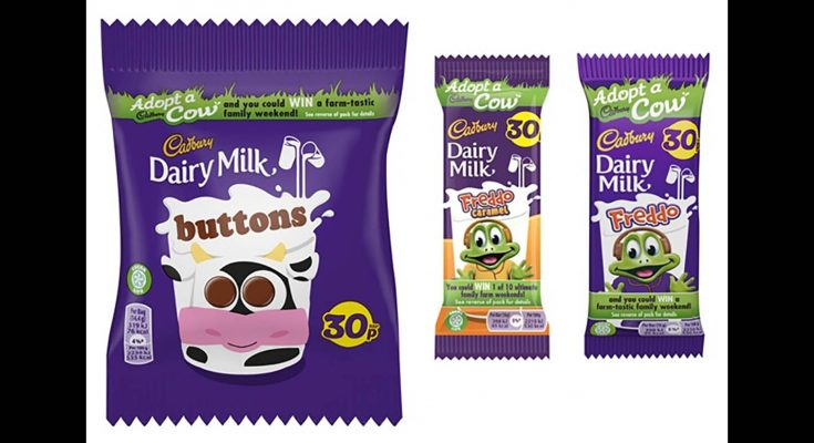 Cadbury's latest on-pack promotion offers families the chance to adopt one of 20 cows and enter a draw to win a family farmyard weekend away to meet the animal.
