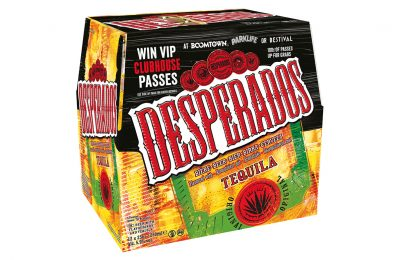 Heineken has launched an on-pack promotion for its Desperados tequila-flavoured beer which highlights the brand's sponsorship of three of the biggest music events taking place across the country.