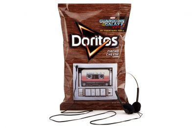Doritos in the US has linked up with the new Marvel Studios' film, Guardians of the Galaxy Vol. 2, in a promotion which sees packs of the tortilla chip snack turned into music players that play the complete film soundtrack.