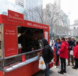 The recently-opened New York office of UK marketing agency Sense has run its first campaign, with the April launch in New York of experiential campaign #feedingthefuture for The Economist.
