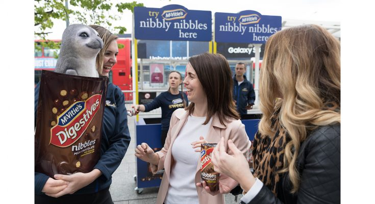 McVitie's has been running a four-week experiential tour focusing on major cities and events, sampling its sharing snack, McVitie's Digestives Nibbles. The activity supported the snack brand's TV advertising campaign.