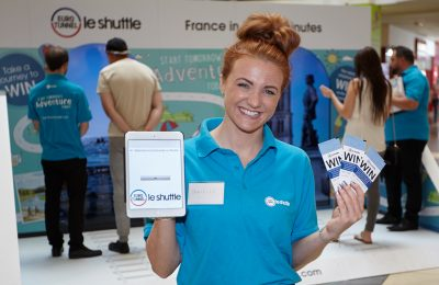 Eurotunnel Le Shuttle has just run a two-week experiential campaign at Bluewater and Lakeside shopping centres to promote the benefits of travelling to Europe by car via the Channel Tunnel.