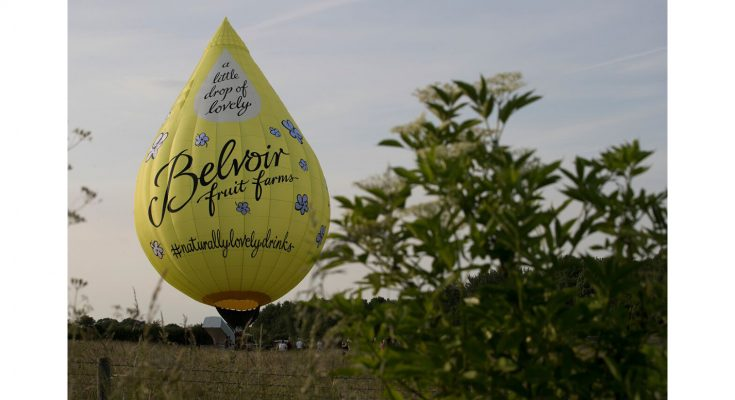 Belvoir Fruit Farms, makers of the Belvoir brand of fruit cordials, is backing its Little Drop of Lovely marketing campaign with a hot air balloon which will tour UK food and countryside festivals, including Bristol Balloon Fiesta, and selected supermarkets.