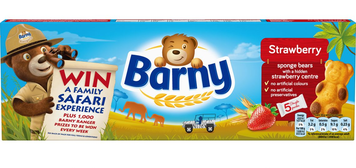 Children's biscuit brand Barny is launching a new on-pack promotion, Rangers, which offers consumers the chance to win the top prize of a five-night family safari to Kruger National Park in South Africa, plus 500 Barny binoculars and 500 Discovery Diary activity books to be won every week.